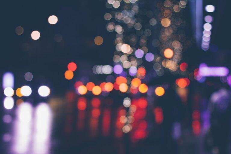 lights, blurred, color